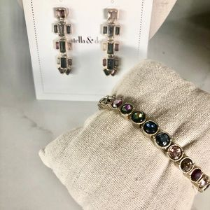 Stella & Dot bracelet and matching earrings.